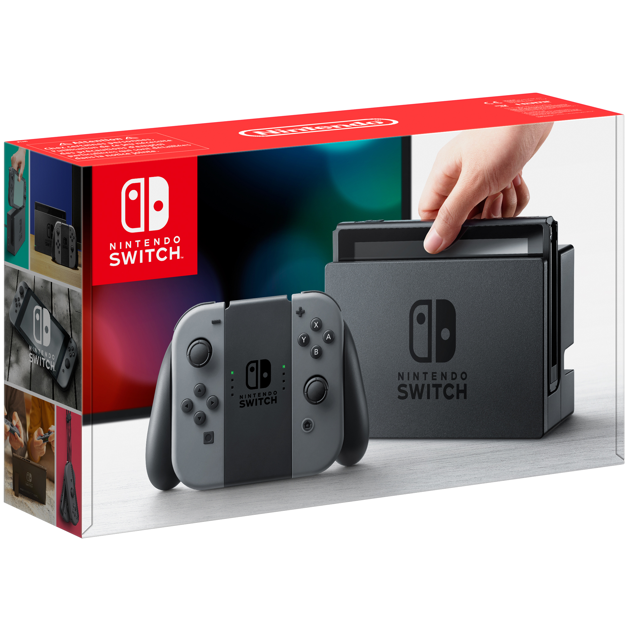 Nintendo Switch spillekonsol + grå Joy-Con