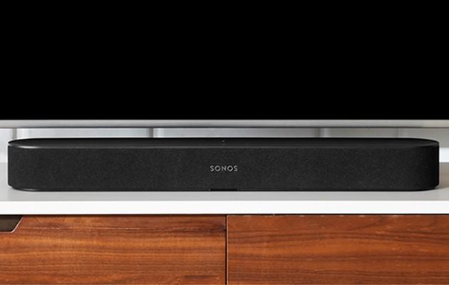 Sonos Beam passar perfekt under TV:n