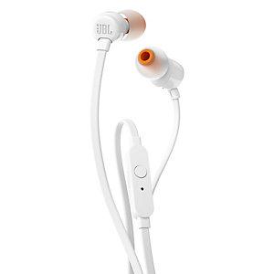 JBL in-ear hodetelefoner T110 (hvit)