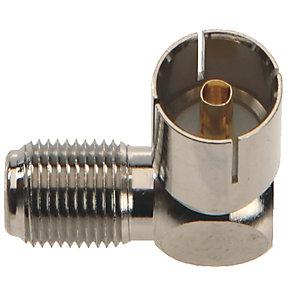 Triax Antenn adapter F hane till IEC hona (2-pack)