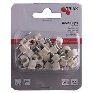 Triax kabelklämmor (vit)
