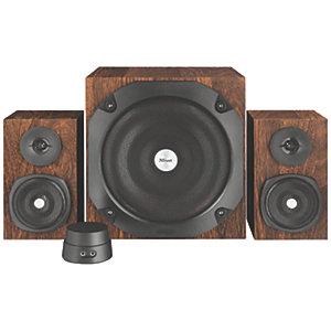 Trust Vigor 2.1 subwoofer høyttalersett (brun)