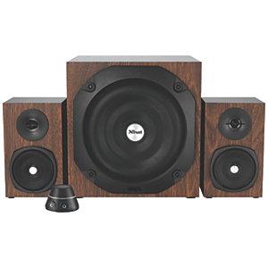 Trust Vigor 2.1 subwoofer högtalarset (brun)