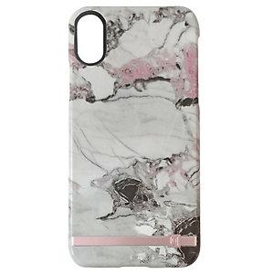 Uunique print design iPhone X deksel (grå/rosa marmor)
