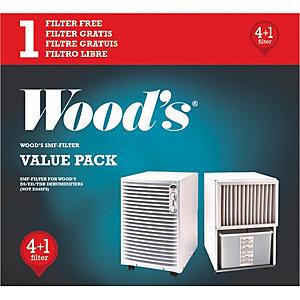 Wood's utbytesfilter för luftavfuktare (5-pack)