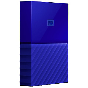 WD My Passport 2 TB extern hårddisk (blå)