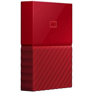 WD My Passport 2 TB extern hårddisk (röd)
