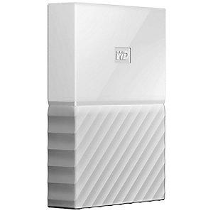 WD My Passport 2 TB bærbar harddisk (hvit)