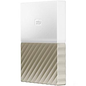 WD My Passport Ultra 1 TB ekstern harddisk (hvit/gull)