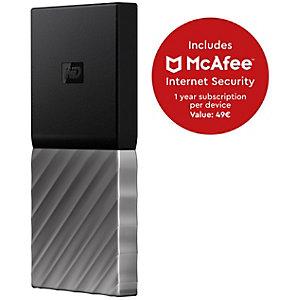 WD My Passport bærbar SSD-lagring 512 GB (sort/grå)