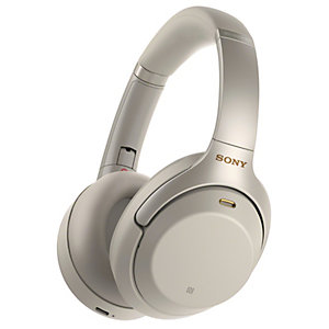 Sony langattomat around-ear kuulokkeet WH-1000XM3 (hopea)