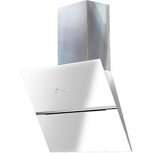 Witt Fläktkåpa WIE60WSQW (rostfritt stål/vit, glas)