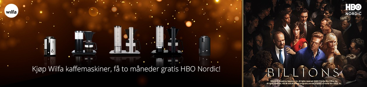 Kjøp Wilfa kaffeprodukter og få HBO Nordic med på kjøpet