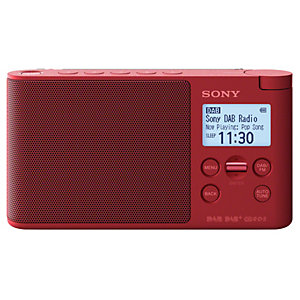 Sony kannettava radio XDR-S41D (punainen)