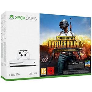 Xbox One S 1 TB + PlayerUnknown's Battlegrounds (vit)