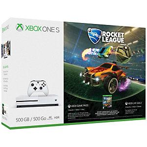 Xbox One S 500 GB + Rocket League bundle (vit)