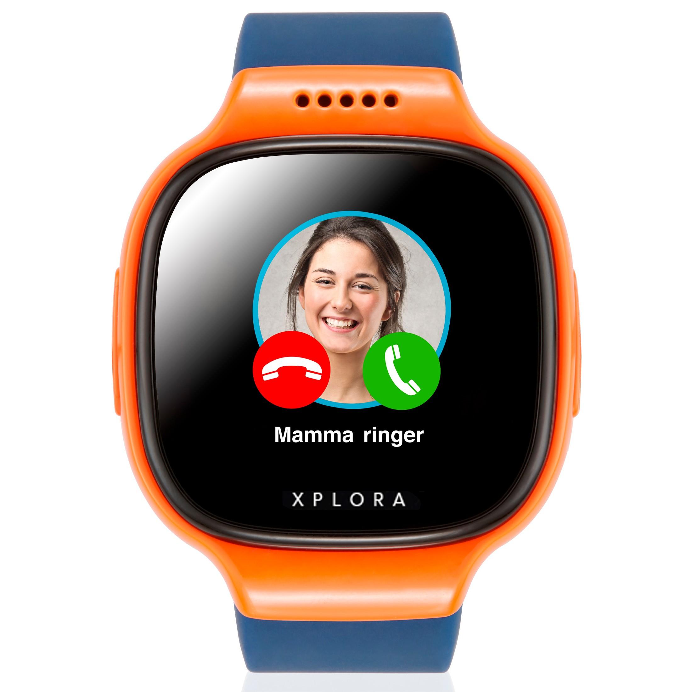 Xplora 2 klokketelefon for barn (oransje/blå)