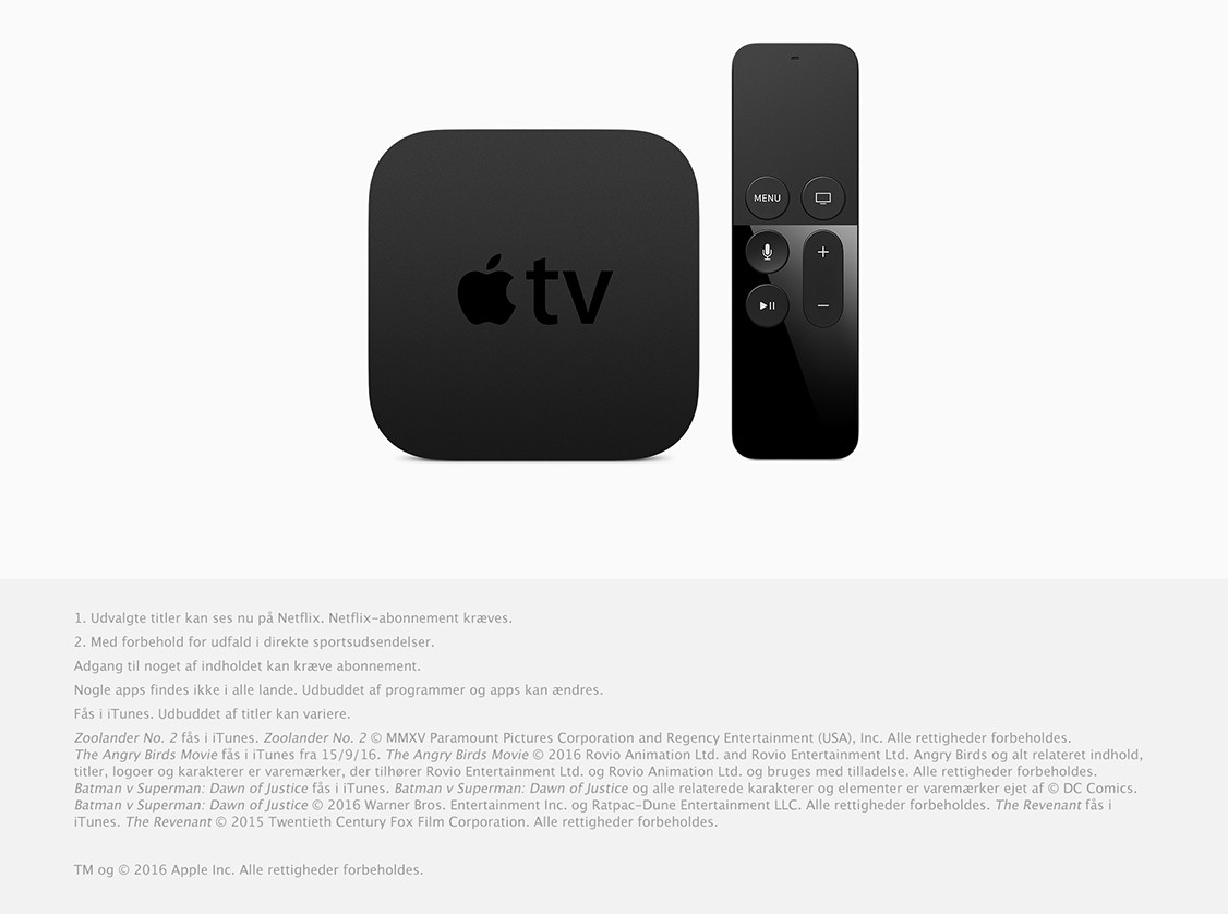Apple TV med Apple TV Remote
