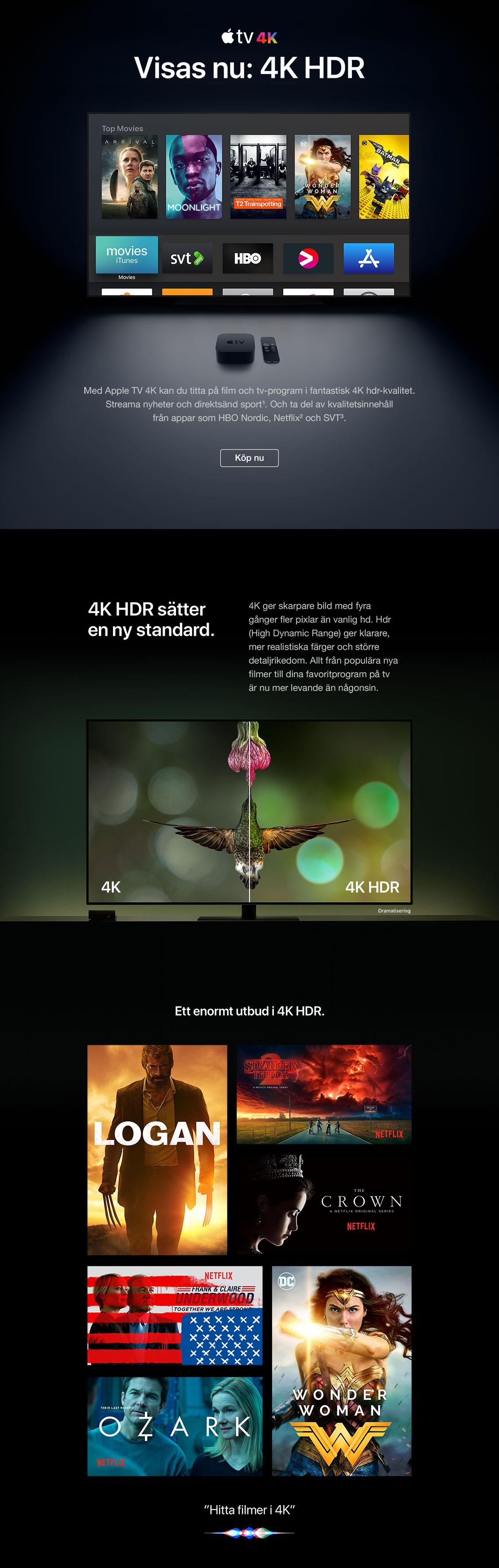 Köp Apple TV 4K i dag – framtidens tv är här