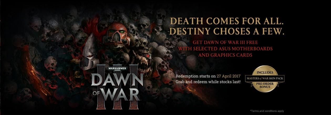 Kjøp gaming-produkter fra ASUS og få DOW 3 på kjøpet!