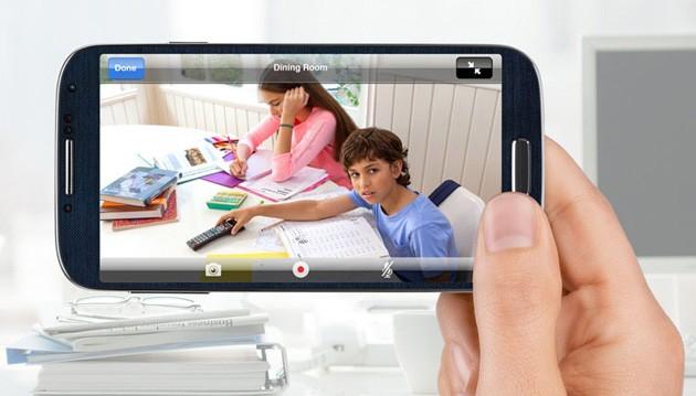 Övervaka hemmet via mobilen