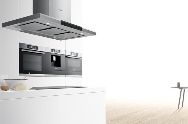 nyhet bosch serie 8 et smart kj kken med automatisk stekeovn elkj p. Black Bedroom Furniture Sets. Home Design Ideas