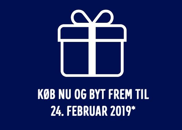 Koeb og byt dine julegave frem til 24. februar 2019