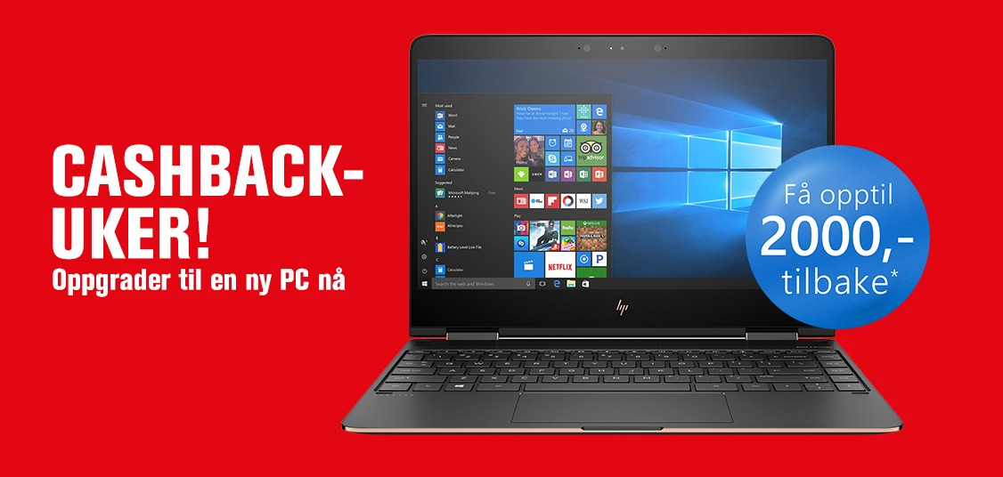 Nå kan du få opptil 2.000 kr tilbake ved kjøp av ny bærbar PC