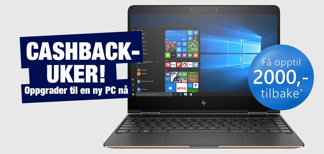 Kjøp en bærbar PC og få opptil 2.000 kr tilbake