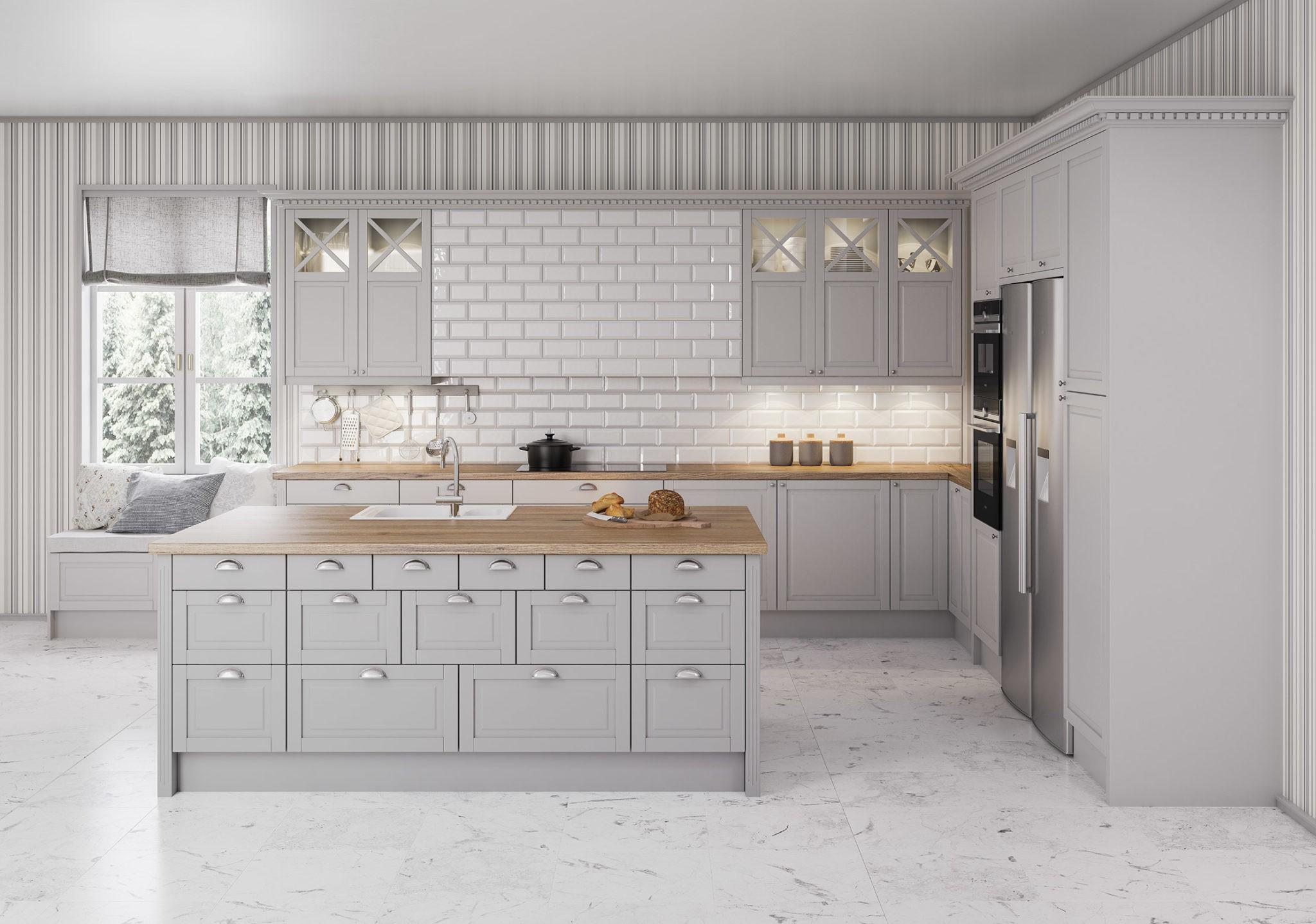Köksinspiration - Fasett Mansion - Exklusivt lantligt kök från Epoq hos Elgiganten