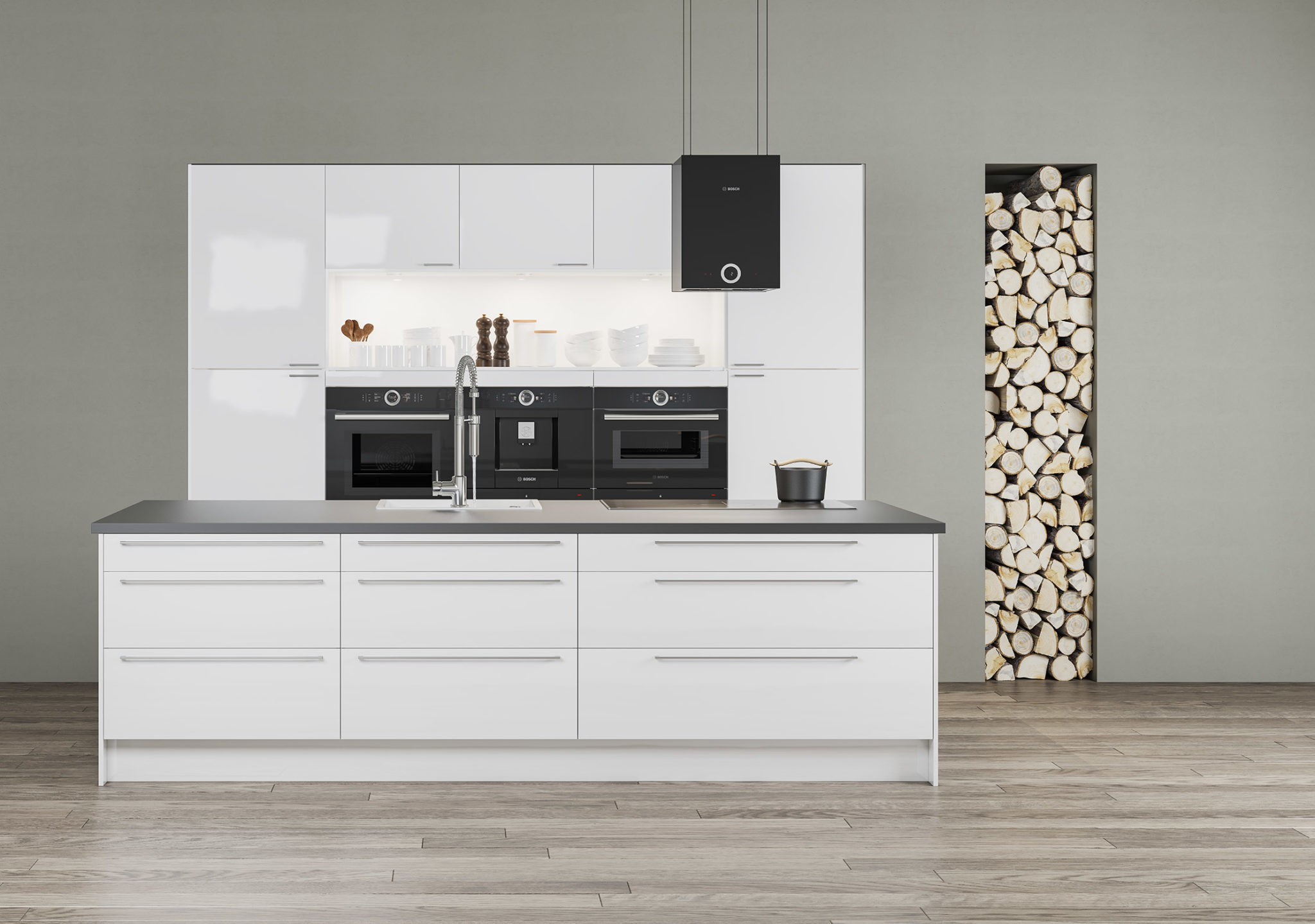 Köksinspiration - Gloss - Modernt kök i högblankt från Epoq hos Elgiganten