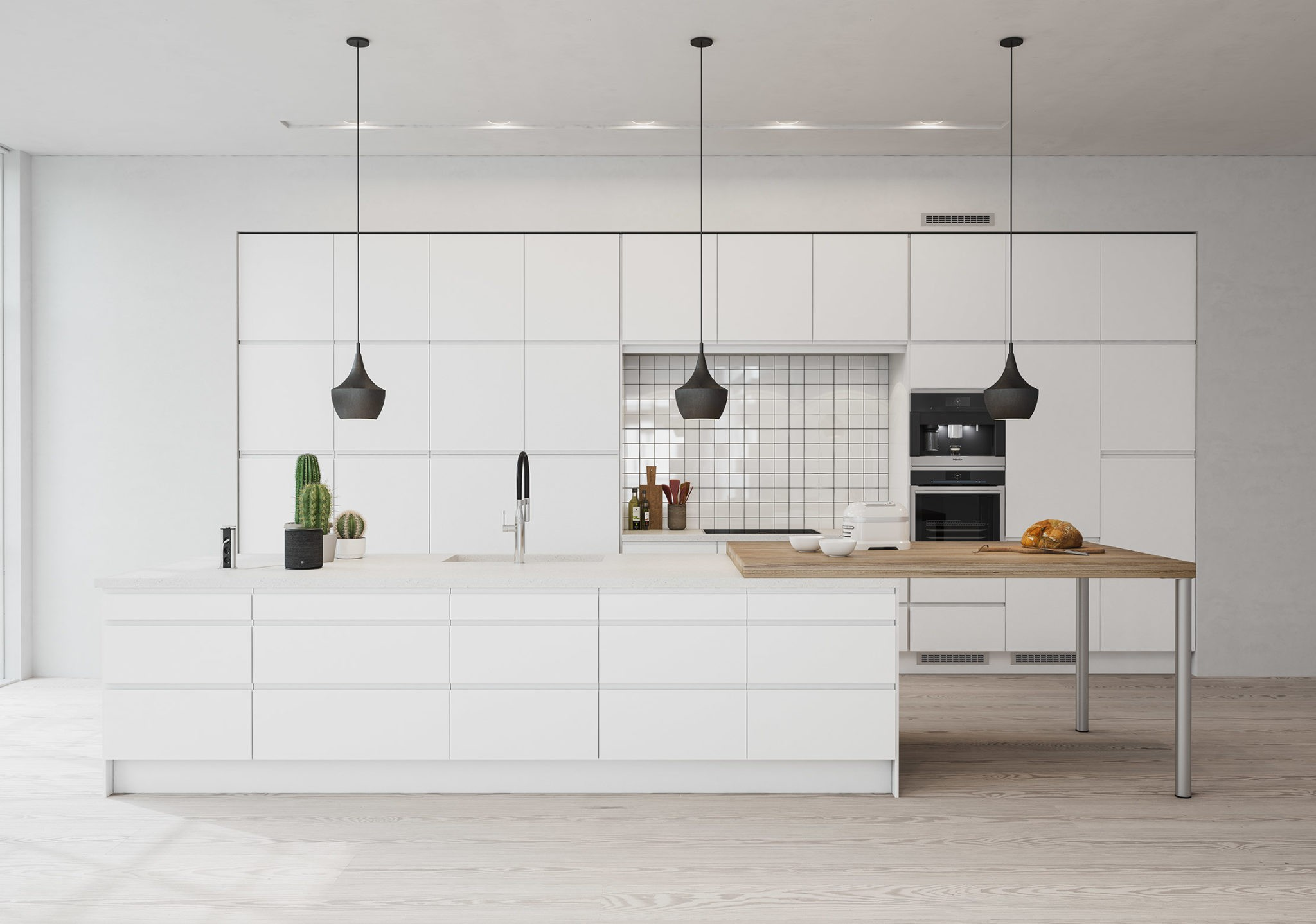 Köksinspiration - Integra - Modernt kök utan handtag från Epoq hos Elgiganten