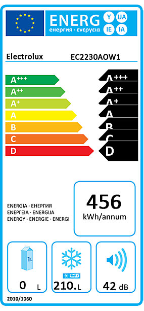 Orkumerki - ELECTROLUX CHEST 210L A+ LOWFROST