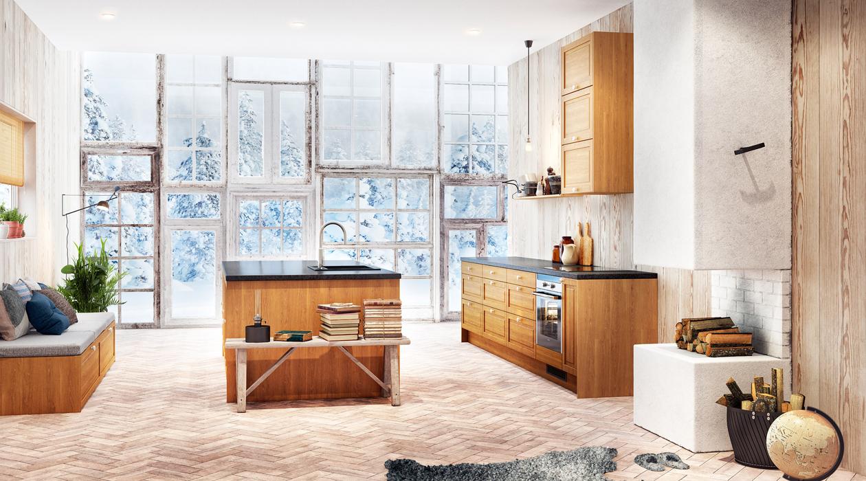 Køkken Fasett Oak