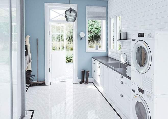 Fasett Offwhite vaskerom
