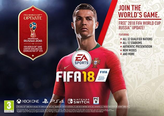 Gratis opdatering til FIFA 18 World Cup