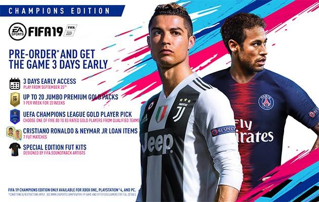 Forhåndsbestill FIFA 19 Champions Edition og få tidlig tilgang
