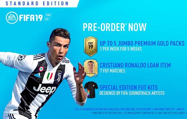 Forhåndsbestill FIFA 19 Standard Edition hos Elkjøp