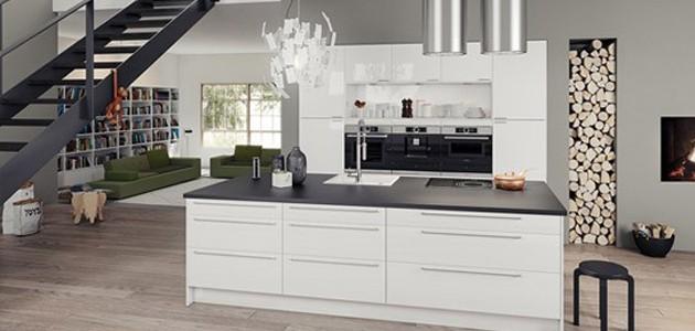 Gloss hvit kjøkken - Epoq
