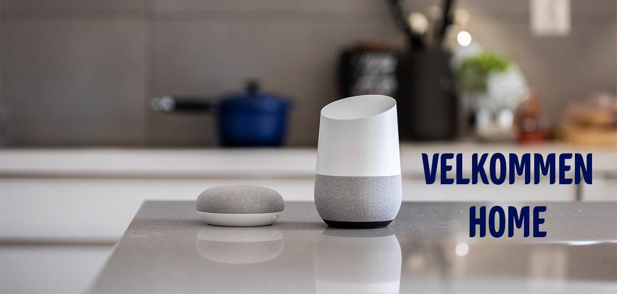 Google Home og Google Home Mini -  Nå på norsk