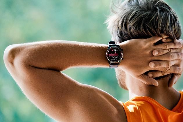 Man som har tränat med Huawei Watch GT