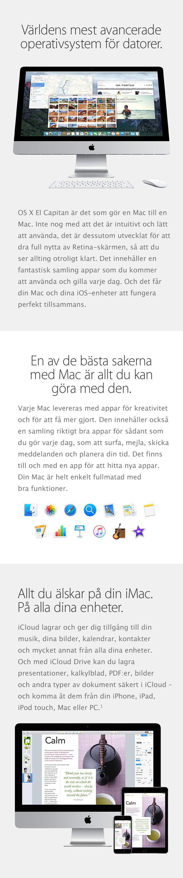 En allsidig iMac med ett otroligt operativsystem