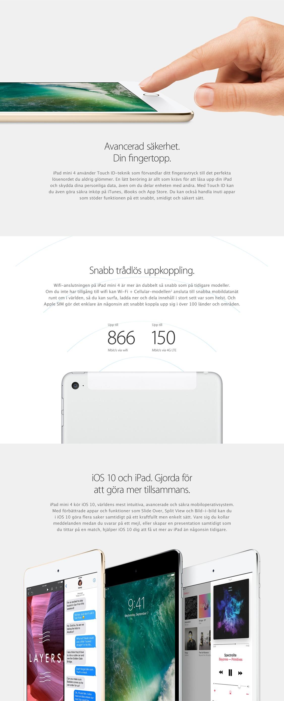 iPad mini 4 är säker, trygg och ger en otrolig användarupplevelse