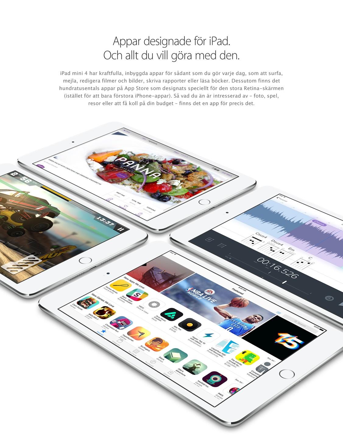 iPad mini 4 – designad för perfektion med iOS och appar