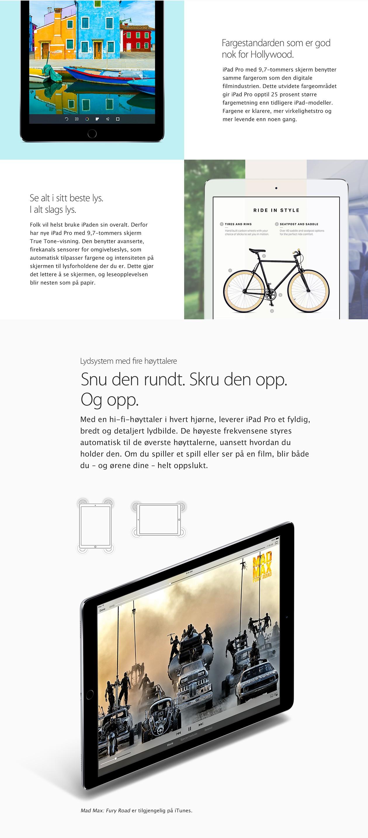 Kjøp iPad Pro 10,5'' og 12,9''