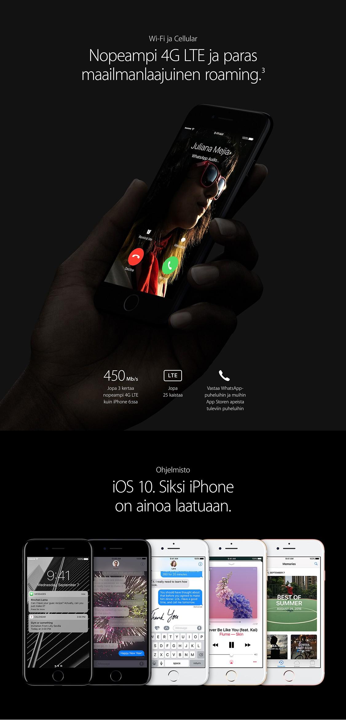 iOS 10 ominaisuudet tekevät iPhone 7:n käytöstä entistä sujuvampaa.
