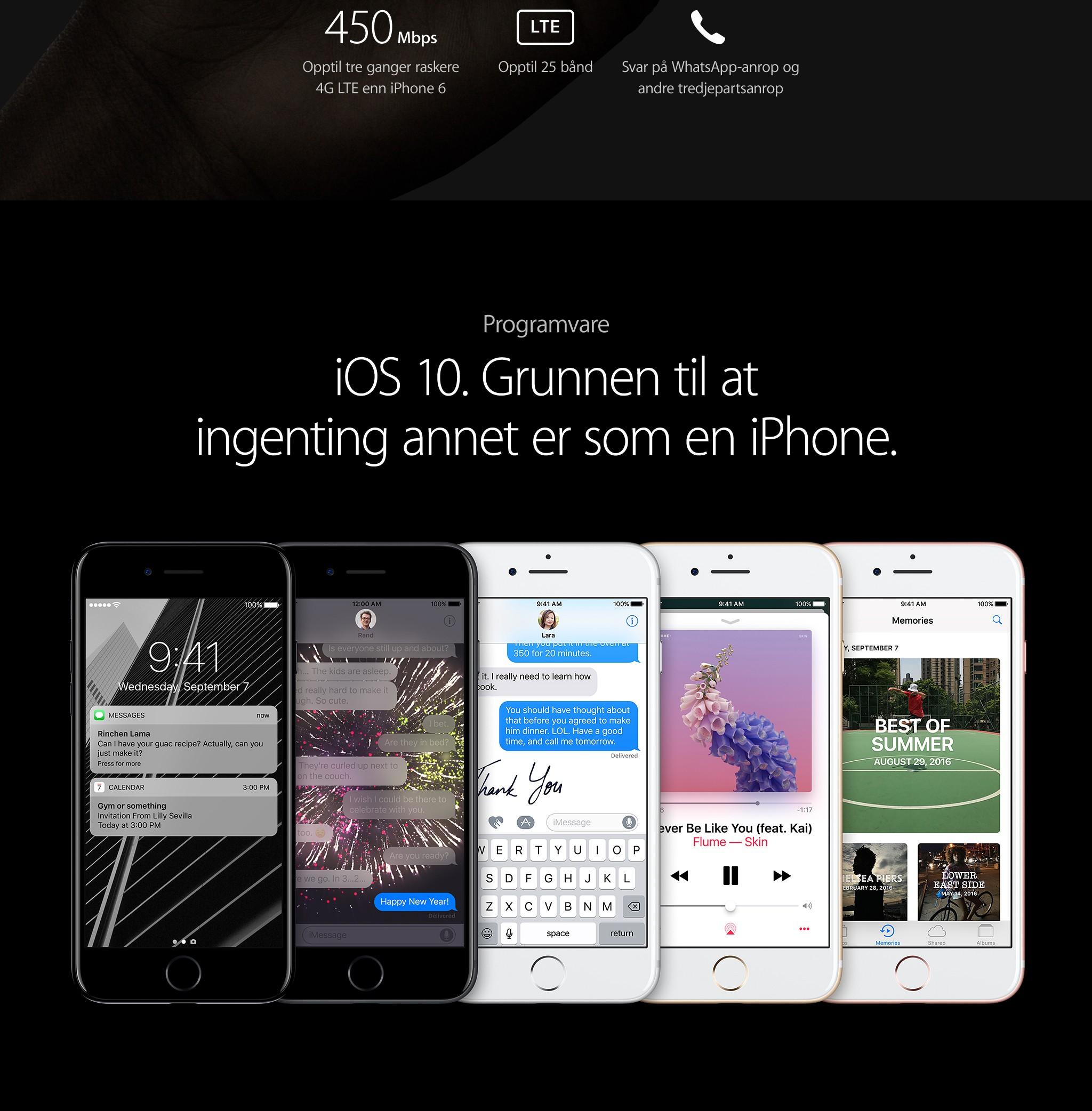 Kjøp iPhone 7 og iPhone 7 Plus hos Elkjøp | Programvare som tar deg lengre
