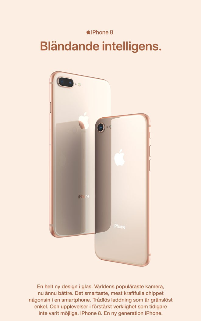 iPhone 8 och iPhone 8 Plus