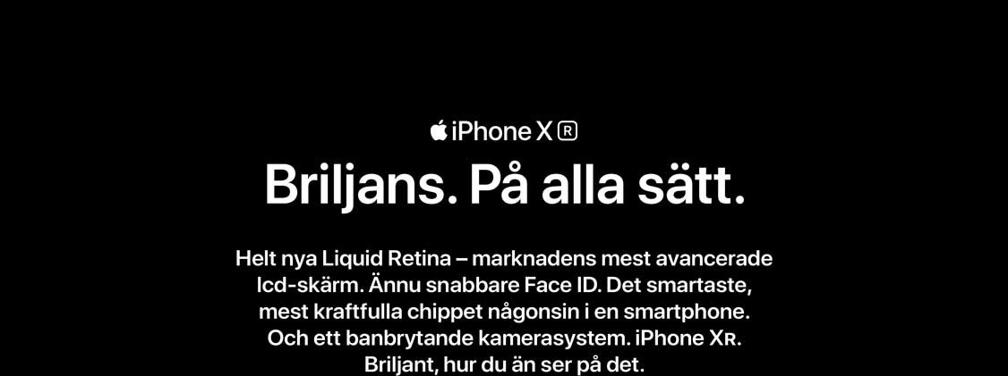 iPhone XR är utrustad med marknadens mest avancerade lcd skärm - helt nya Liquid Retina