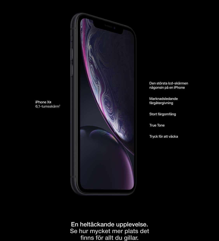 iPhone XR med 6,1 tums skärm
